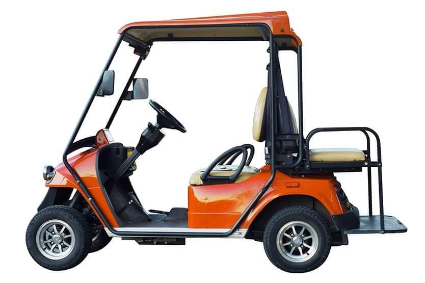 orange golf cart